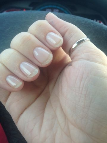 Results using acrygel system for growing out my natural nails. Only 3 weeks into using the product in this pic!
