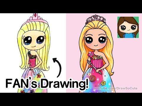 Draw So Cute Youtube Cute Drawings Barbie Drawing Cute Easy Drawings