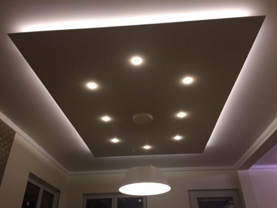 Deckensegel Lisego Quadro Sonderanfertigung mit integrierter - deckenlampen wohnzimmer modern
