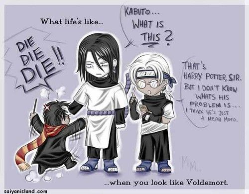 The Wrong Dimension Naruto X Hp Dinnertime Naruto Funny Naruto Harry Potter Funny Pictures