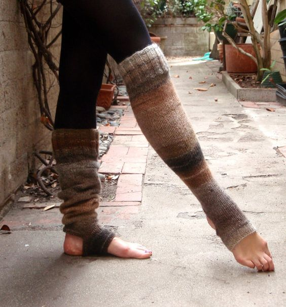 Extra Long Yoga Pilates Dance Socks Leg by KnitsKnotsNStitches