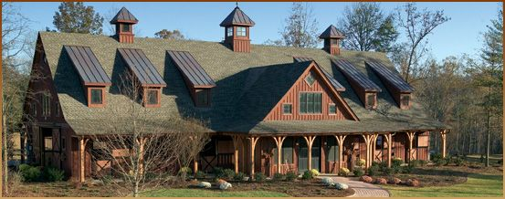 I love this - probably the only think I would change is making the dormers twice as wide versus having so many, but still . . . I will definitely go timber frame on my dream house.