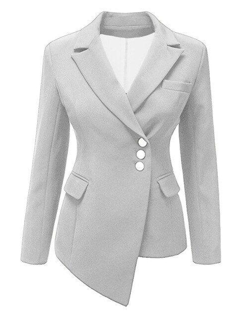Womens Ladies Long Sleeve Cropped Waterfall Blazer Coat Jacket Top Plus Size