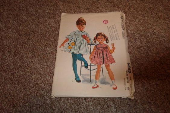 vintage sewing pattern mccalls 6660 childs dress by robinsvintage, $3.00