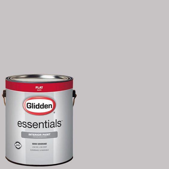 Glidden Essentials 1 gal. #HDGCN57 Urban Grey Flat Interior Paint
