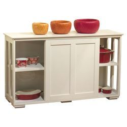 Pacific Kitchen Island in White