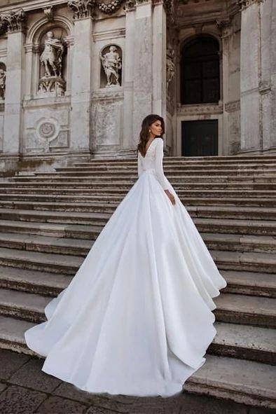 Wedding Dress Matalan Dresses For Weddings Empire Line Wedding Dress C In 2020 Satin Wedding Gown Wedding Dresses Satin Wedding