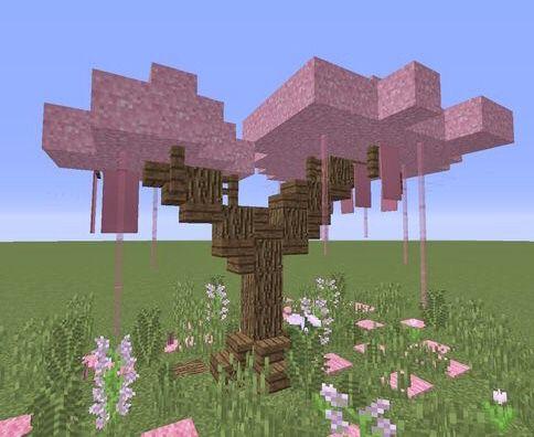 Sakura Tree In 2021 Minecraft Crafts Minecraft Designs Minecraft Creations