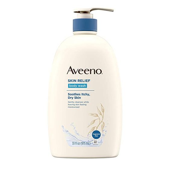 Amazon.com : Aveeno Skin Relief Fragrance-Free Body Wash with Oat to Soothe Dry Itchy Skin, Gentle, Soap-Free & Dye-Free for Sensitive Skin, 33 fl. oz : Beauty