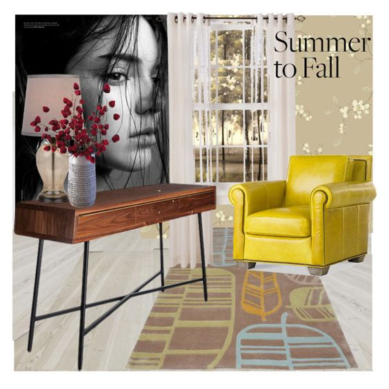 """""""Summer to Fall"""" by frenchfriesblackmg ❤ liked on Polyvore featuring interior, interiors, interior design, home, home decor, interior decorating, York Wallcoverings, Surya, Threshold and David Gaynor"""
