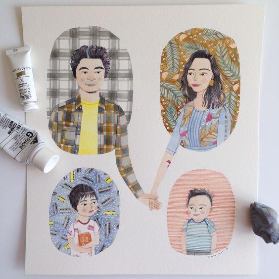 Custom Family Portraits — Brooke Smart Illustration