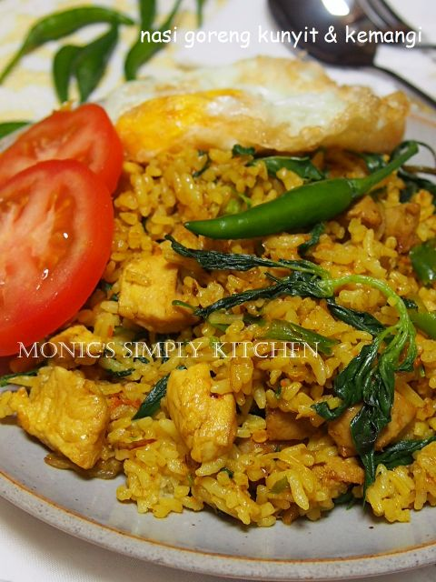Nasi Goreng Kuning : goreng, kuning, Goreng, Kuning, Makanan,, Kunyit,, Kemangi