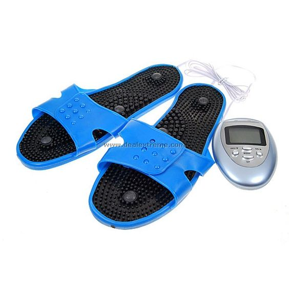 Electronic Foot-Relax Massaging Slipper with Controller (2*AAA)