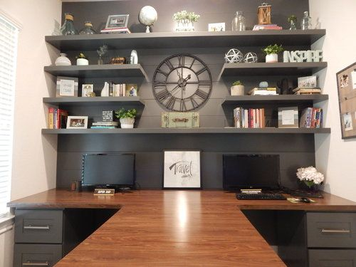 The Office T Shaped Desk Office Furniture Layout Home Office Design Home Office Layouts