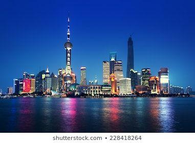 Free Virtual Backgrounds For Zoom Skype And More Shutterstock Shanghai Shanghai Night Skyline