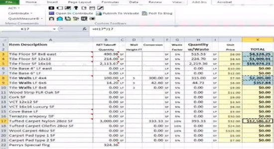 Free Electrical Estimating Spreadsheet Construction Estimating Software Electrical Estimating Construction Company