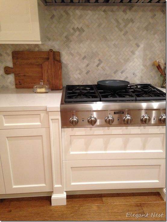herringbone pattern gas stove and countertops on pinterest