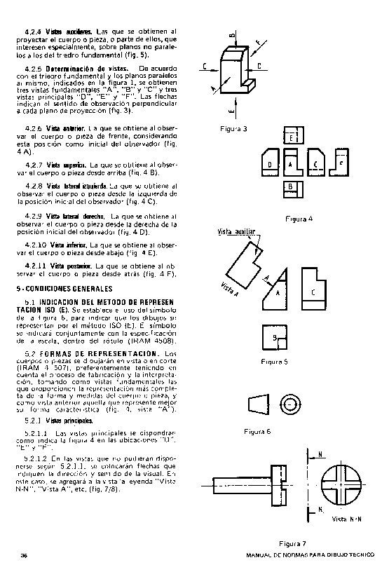 Tecnologia De La Representacion Lgy Norma Iram 4501 Dibujo Tecnico Definiciones De Vistas Metodo Iso E Tecnicas De Dibujo Planos Definiciones