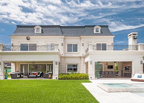Fern ndez borda arquitectura casa estilo cl sico franc s for Estilos de casas arquitectura