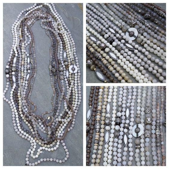 Endless layers of knotted necklaces #scarterdesigns #pavediamonds #necklaces #jewels #layered #blingbling #neutralcolors #neutraljewelry #brunellocucinelli #obsessed #springjewels #instafashion #chic #instastyle #instajewelry #diamonds