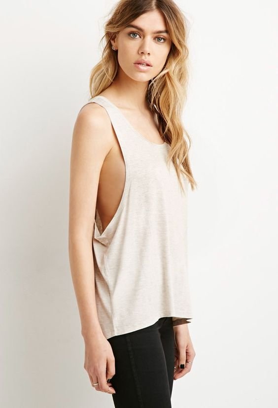 FOREVER 21 Drop Armhole Tank