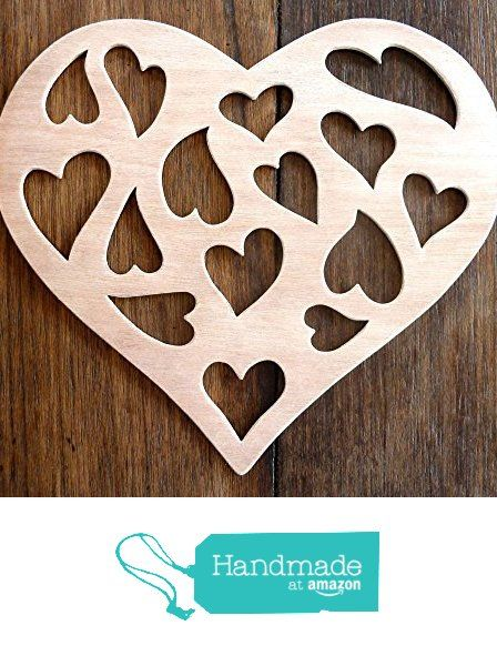 """Beautiful Large Sized Hand Crafted MDF 'Hearts Within A Heart' Craft Shape - 9.5"""" X 8"""" x 9mm Thick from The Andromeda Print Emporium https://www.amazon.co.uk/dp/B01K7G0HR2/ref=hnd_sw_r_pi_dp_G2hRxbDWEMT5T #handmadeatamazon"""
