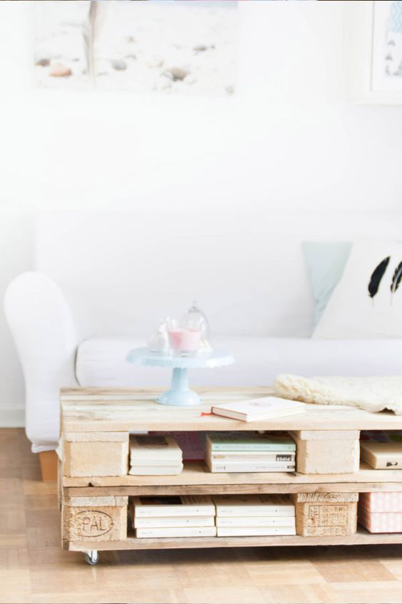 DIY Anleitung: Paletten-Couchtisch bauen // DIY tutorial: how to build a coffee table with pallets via DaWanda.com