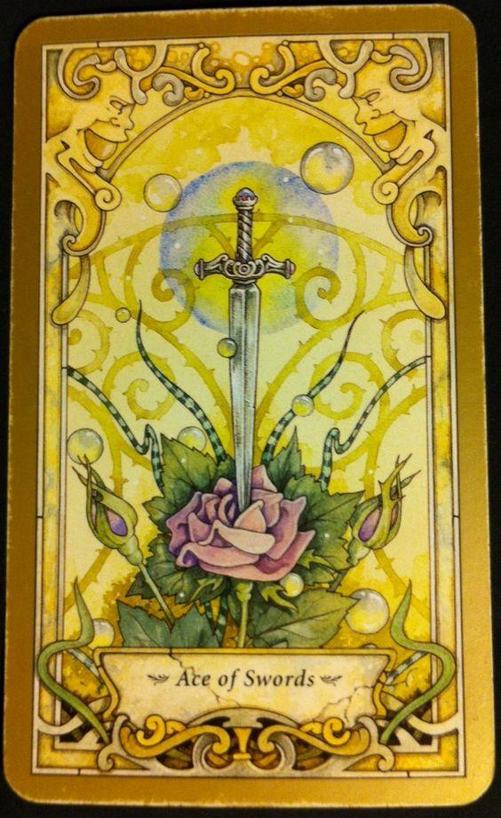 Mystic Faerie Tarot The World: Mystic Faerie Tarot: Ace Of Swords