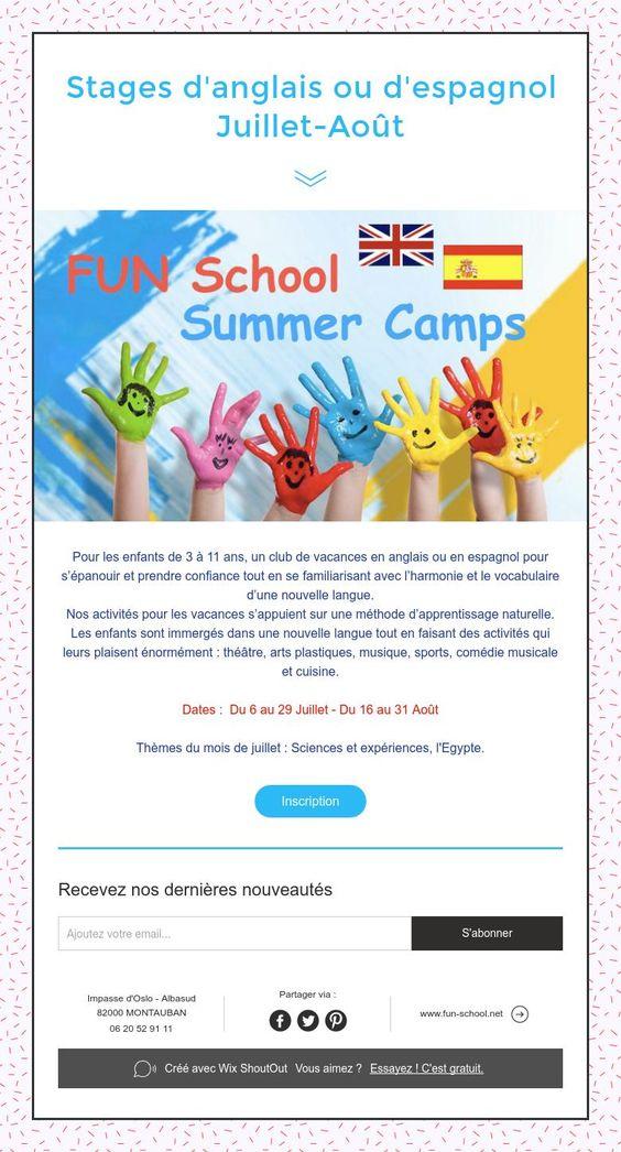 Atelier du0027anglais FUN school St Théodard Fun, Schools and Atelier - creer sa cuisine en d gratuit