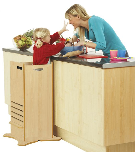 The FunPod, available from @lucaandcompany, provides a safe environment for toddlers/children to help safely in the kitchen! #babygear #PNapproved