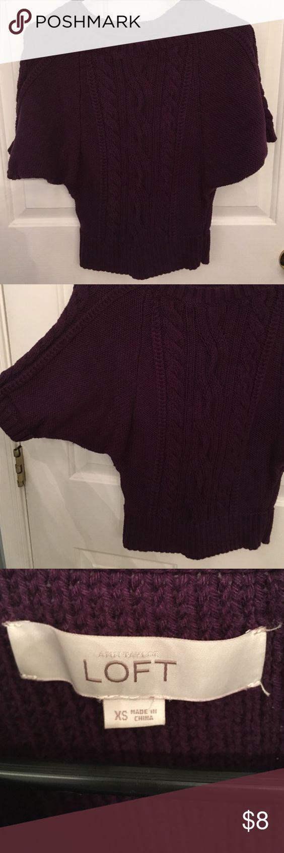 Ann Taylor Loft Sweater Purple short sleeve sweater, perfect condition LOFT Sweaters