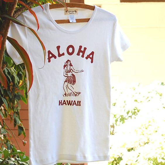 画像1: 【ビンテージ フラガール(White)】半袖Tシャツ