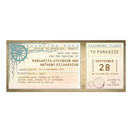 save the date boarding pass-vintage tickets personalized announcements Discount DealsOnline Secure Check out Quick and Easy...