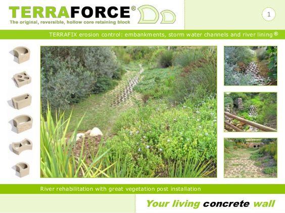 Terraforce Terrafix erosion control block by Terraforce via slideshare