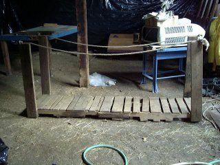 How to make rickety old bridge--would be fun to have a fake river (slime? or a river of souls like in Hercules?) between rooms and this going over it