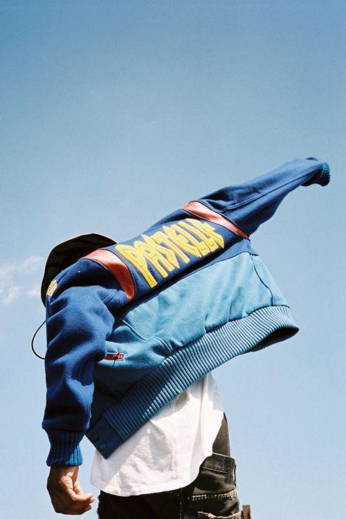 Kanye West Pastelle Varsity Jacket Fashion Photography School Urban Fashion Photography Street Fashion Photography