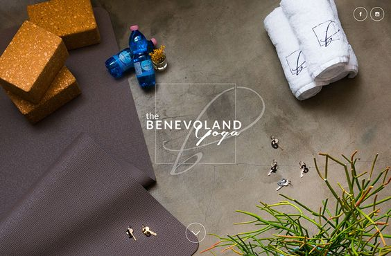 the BENEVOLAND Yoga | Web Design Clip