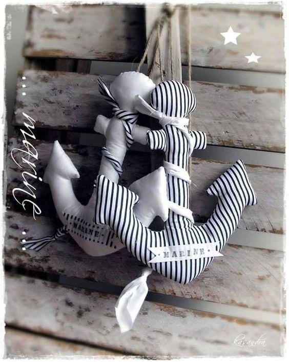 lo spazio di lilla: Cucito creativo. L'ancorotto, le stelle e il cavalluccio marino.
