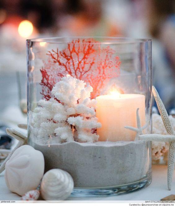 Amazing beach wedding centerpieces summer