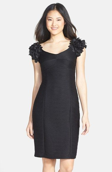 Nue by Shani Flower Appliqué Ottoman Knit Dress available at #Nordstrom