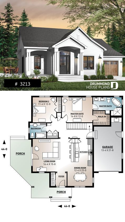 Discover The Plan 3213 Nala Which Will Please You For Its 2 Bedrooms And For Its Farmhouse Styles Sims House Plans New House Plans Dream House Plans