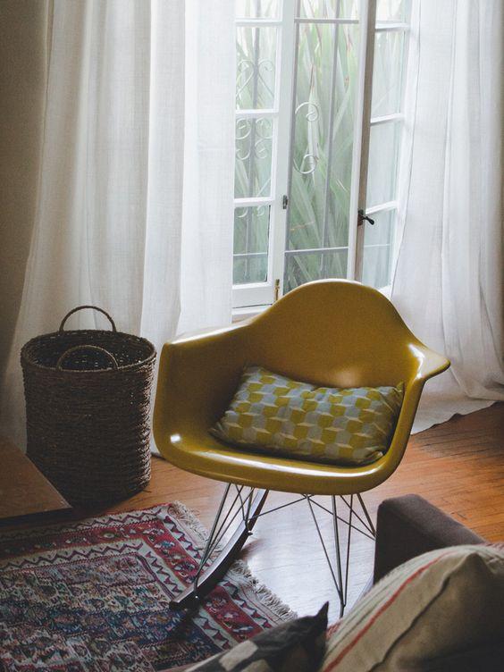 Yellow Eames Rocker | SmartFurniture.com