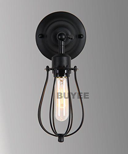 buyee schwarz farbe moderne industrie wandlampe edison lampe retro wand licht rustikale weinlese. Black Bedroom Furniture Sets. Home Design Ideas