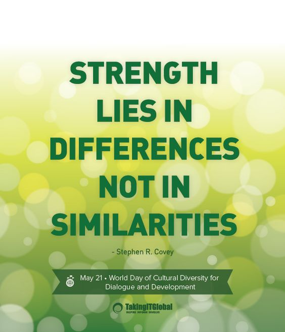 Diversity And Inclusion Quotes: World Day Of Cultural Diversity For Dialogue And