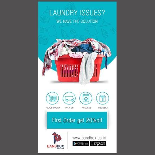 Bandbox Laundry Ad Design Brosur Desain Brosur Desain Banner