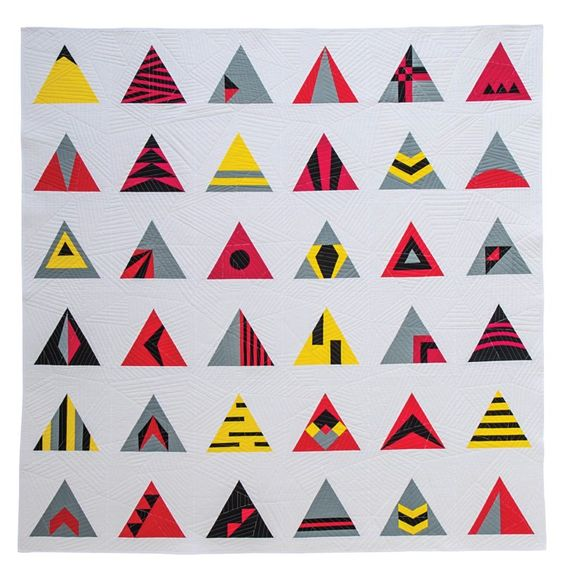 Equilateral Sampler {Modern Triangle Quilts} - Bryan House Quilts