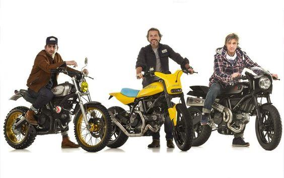 Ducati Scrambler ganha customização de oficinas famosas +http://brml.co/1ClFPA4