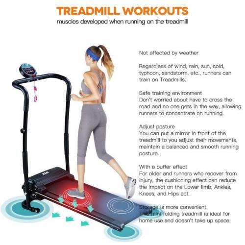 Fine 500w Electric Treadmill Folding Motorized Running Fitness Yoga Led Display Usa Gym Workouts Biking Workout Running Machines