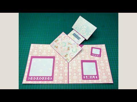 Pop Up Card Tutorial Card For Scrapbook Card Ideas Youtube Card Tutorial Scrapbook Cards Scrapbook