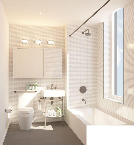 Adam Rolston Gabriel Benroth Drew Stuart condo NYC New York nbsp Brooklyn tub  bathroom tile white. Tubs Hextable